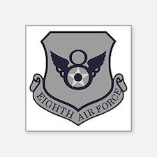 "USAF-8th-AF-Shield-Subdued- Square Sticker 3"" x 3"""