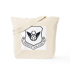 USAF-8th-AF-Shield-Midnight-Blue Tote Bag