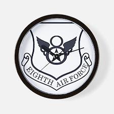 USAF-8th-AF-Shield-Midnight-Blue Wall Clock