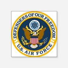 "USAF-Defenders-Blue-White-G Square Sticker 3"" x 3"""