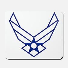 USAF-Symbol-White-On-Blue Mousepad