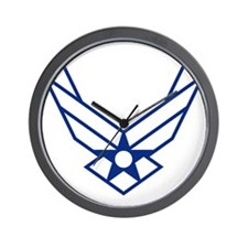 USAF-Symbol-White-On-Blue Wall Clock