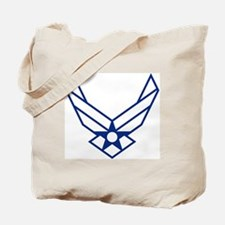 USAF-Symbol-White-On-Blue Tote Bag