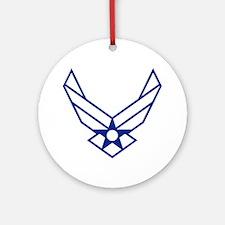 USAF-Symbol-White-On-Blue Round Ornament