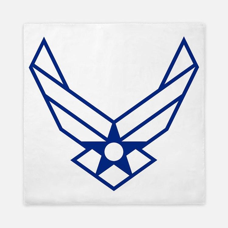 USAF-Symbol-White-On-Blue Queen Duvet