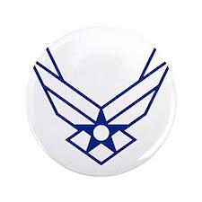 "USAF-Symbol-White-On-Blue 3.5"" Button"