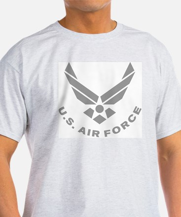 USAF-Symbol-Gray-With-Curved-Text T-Shirt