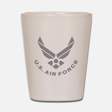 USAF-Symbol-Gray-With-Curved-Text Shot Glass