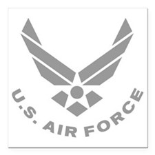 "USAF-Symbol-Gray-With-Cu Square Car Magnet 3"" x 3"""