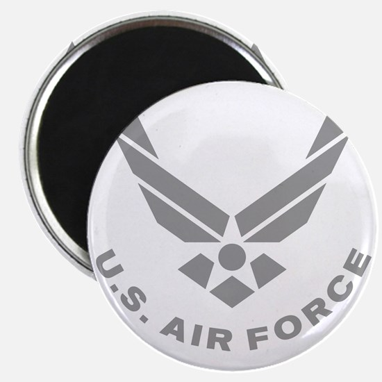 USAF-Symbol-Gray-With-Curved-Text Magnet