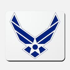USAF-Symbol-Blue-On-White Mousepad
