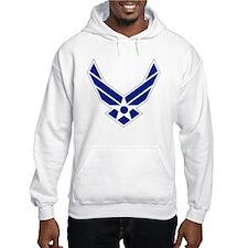 USAF-Symbol-Blue-On-White Hoodie