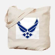 USAF-Symbol-Blue-On-White Tote Bag