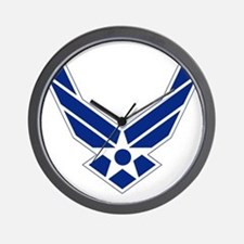 USAF-Symbol-Blue-On-White Wall Clock
