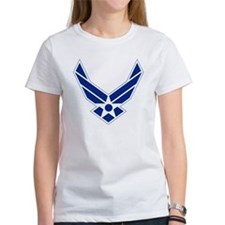 USAF-Symbol-Blue-On-White Tee