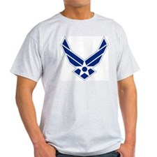 USAF-Symbol-Blue-On-White T-Shirt