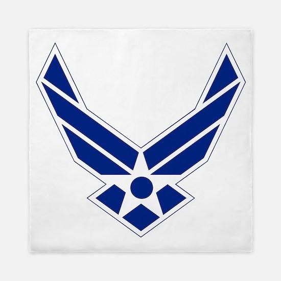 USAF-Symbol-Blue-On-White Queen Duvet