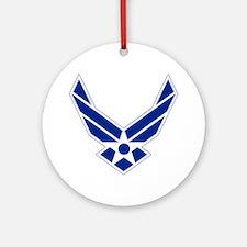 USAF-Symbol-Blue-On-White Round Ornament