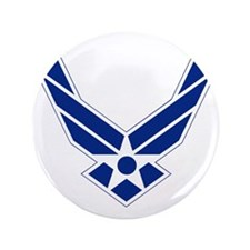 "USAF-Symbol-Blue-On-White 3.5"" Button"