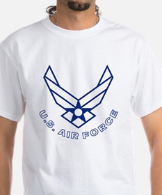 USAF-Symbol-With-Curved-Text-Whit Shirt