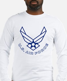 USAF-Symbol-With-Curved-Text-W Long Sleeve T-Shirt