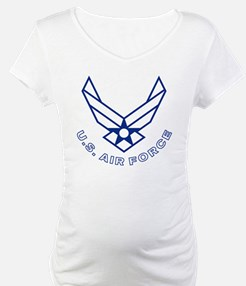 USAF-Symbol-With-Curved-Text-Whi Shirt