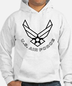 USAF-Symbol-With-Curved-Text-Whi Hoodie