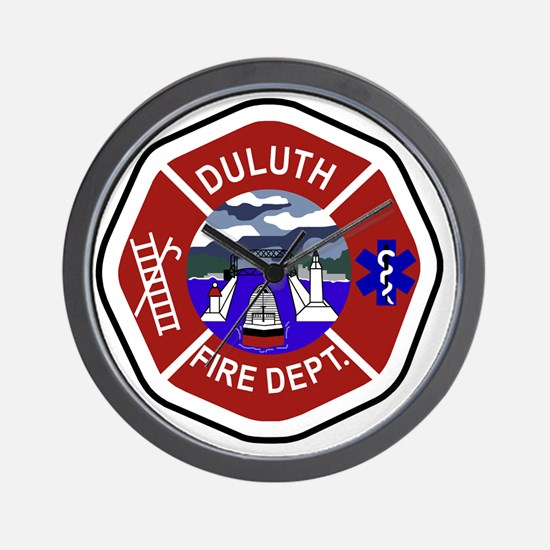 2-Duluth-Fire-Dept Wall Clock