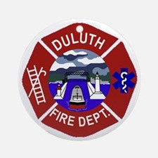 Duluth-Fire-Dept Round Ornament