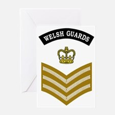 British-Army-Welsh-Guards-CSgt-Khaki Greeting Card