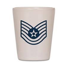 USAF-TSgt-Blue-Four-Inches Shot Glass