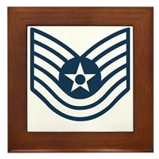 USAF-TSgt-Blue-Four-Inches Framed Tile