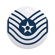 USAF-TSgt-Blue-Four-Inches Round Ornament