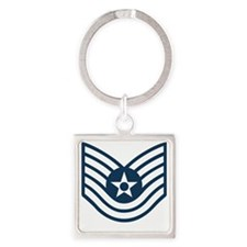 USAF-TSgt-Blue-Four-Inches Square Keychain