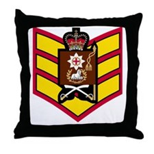 British-Army-Coldstream-Guards-CSgt-B Throw Pillow