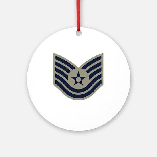 USAF-TSgt-ABU-Four-Inches Round Ornament