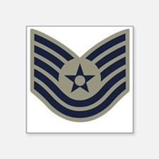 "USAF-TSgt-ABU-Four-Inches Square Sticker 3"" x 3"""