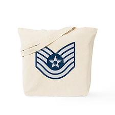 USAF-TSgt-Blue Tote Bag