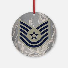USAF-TSgt-Mousepad-ABU Round Ornament