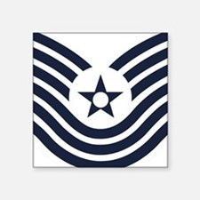 "USAF-MSgt-Old-Inverse Square Sticker 3"" x 3"""