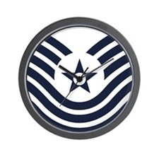 USAF-MSgt-Old-Inverse Wall Clock