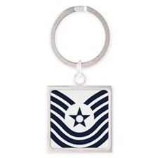 USAF-MSgt-Old-Inverse Square Keychain