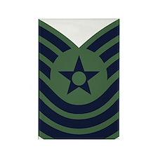 USAF-MSgt-Old-Green Rectangle Magnet