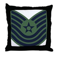 USAF-MSgt-Old-Green Throw Pillow