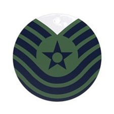 USAF-MSgt-Old-Green Round Ornament