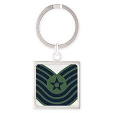 USAF-MSgt-Old-Green Square Keychain