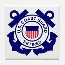 USCG-Retired-Bonnie Tile Coaster
