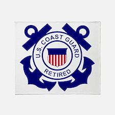 USCG-Retired-Bonnie Throw Blanket