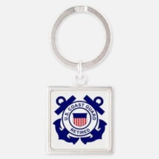 USCG-Retired-Bonnie Square Keychain