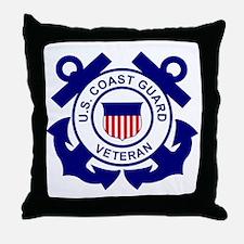 USCG-Veteran-Bonnie Throw Pillow